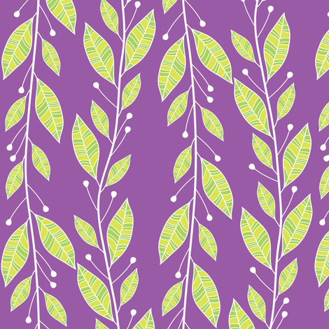 Viney Leaves (Purple) fabric by robyriker on Spoonflower - custom fabric