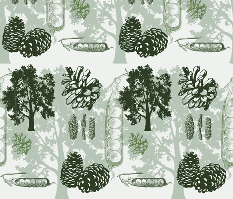 evergreens - greens fabric by wiccked on Spoonflower - custom fabric