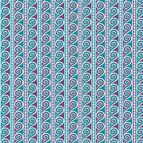 Wave Stripe fabric by siya on Spoonflower - custom fabric