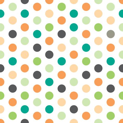 Summer Breeze - Polk-a-Dot fabric by doodletrain on Spoonflower - custom fabric