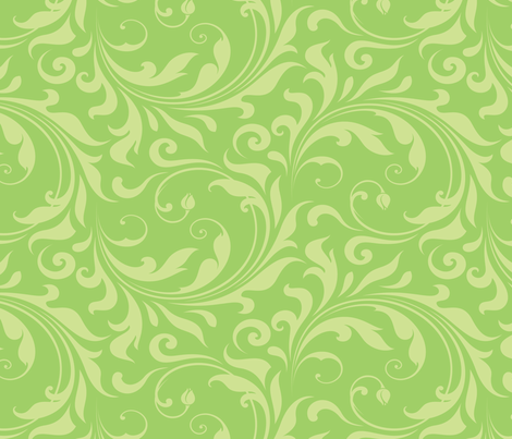 Summer Breeze - Flourish Mint fabric by doodletrain on Spoonflower - custom fabric