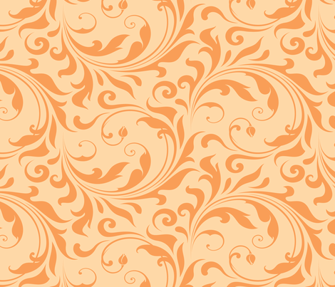 Summer Breeze - Flourish Sorbet fabric by doodletrain on Spoonflower - custom fabric