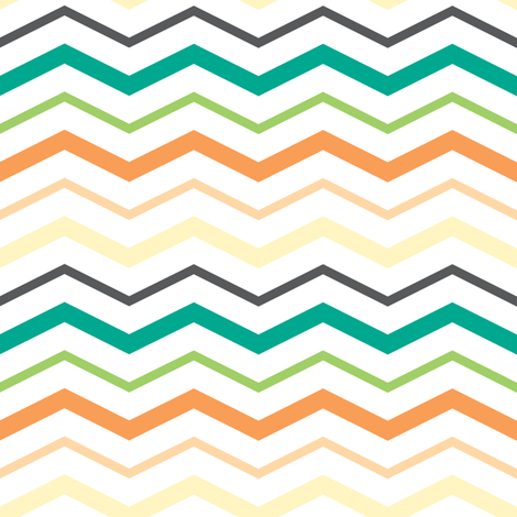 Summer Breeze - zig zag fabric by doodletrain on Spoonflower - custom fabric