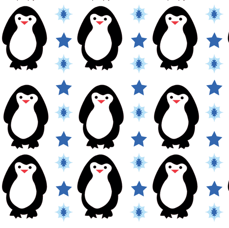 Penguin dreams  fabric by amy_frances_designs on Spoonflower - custom fabric