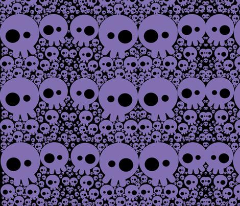 skullbubbleprbl fabric by karmacranes on Spoonflower - custom fabric