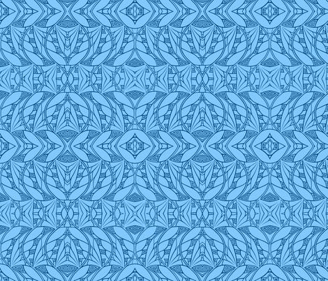 Dark & Light (blues reversed) fabric by relative_of_otis on Spoonflower - custom fabric