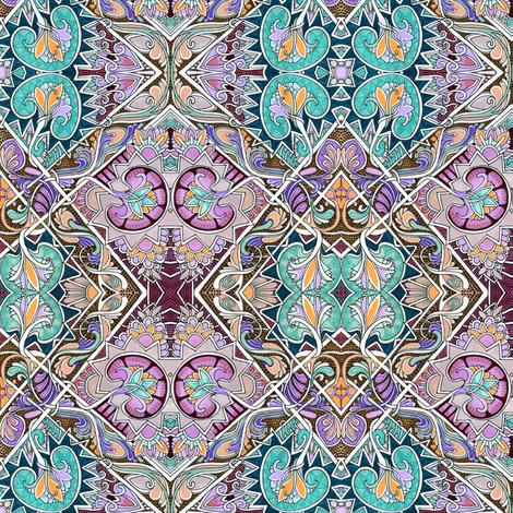 Interlocking Diamonds with Victorian Flair fabric by edsel2084 on Spoonflower - custom fabric
