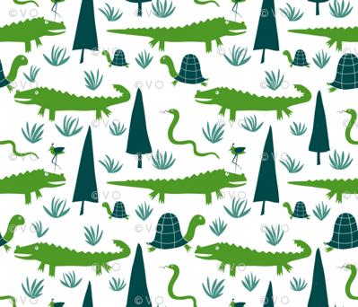 Alligators Are Evergreen in the Everglades