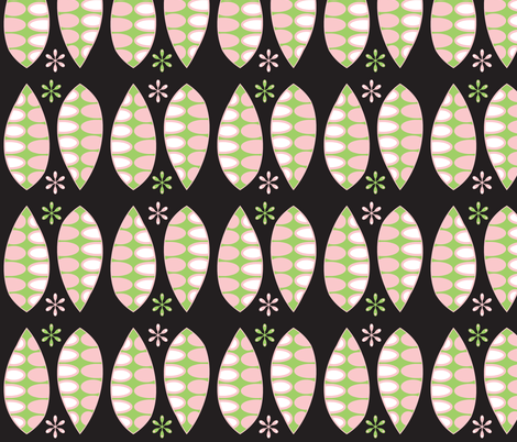 Laurels - Pink and Green fabric by giddystuff on Spoonflower - custom fabric