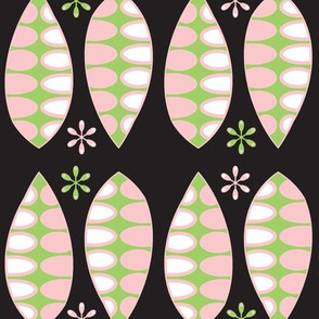 Laurels - Pink and Green