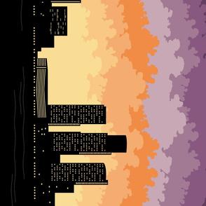 Detroit Skyline Border Print