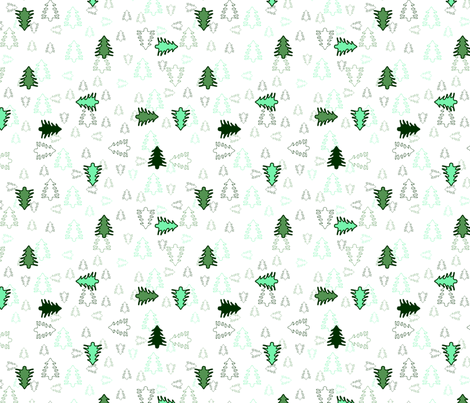 Forest Fabric fabric by pininkie on Spoonflower - custom fabric