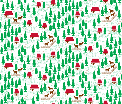 Toy Village fabric by needlebook on Spoonflower - custom fabric