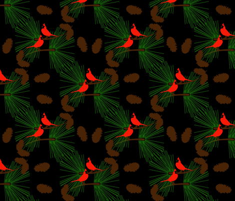 pine boughs fabric by suziwollman on Spoonflower - custom fabric