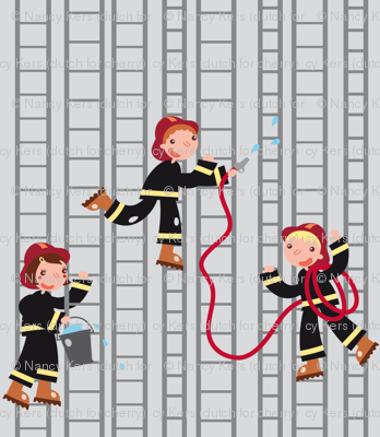Firemen, on the roll! (ladders)