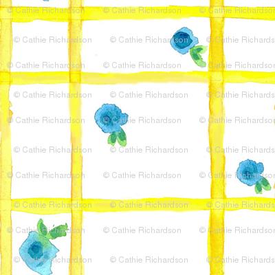 Yellow Blossom Plaid