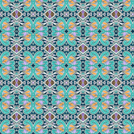 Four Lobed Floral Whatsit fabric by edsel2084 on Spoonflower - custom fabric