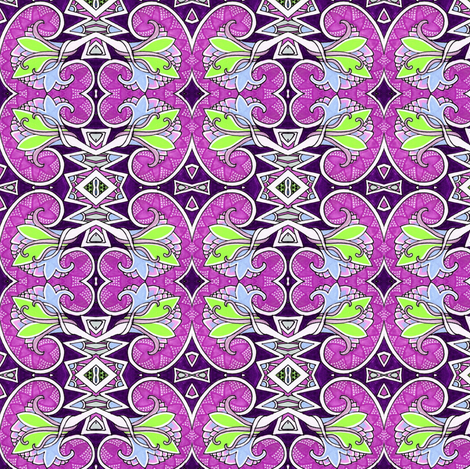 Purple Buddy fabric by edsel2084 on Spoonflower - custom fabric