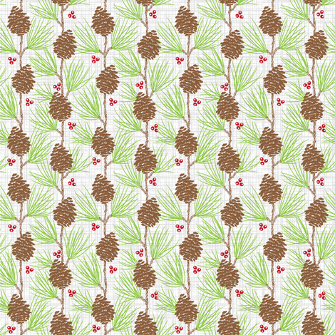 Whispy Pines - Faint Texture fabric by dianne_annelli on Spoonflower - custom fabric