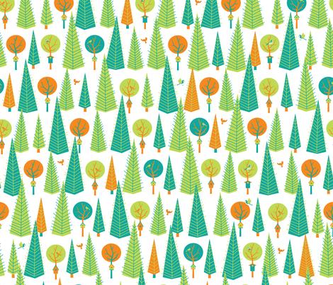 Birdwatching fabric by jennartdesigns on Spoonflower - custom fabric