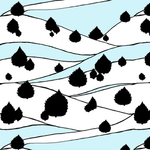 cedartreesskywhiteblack