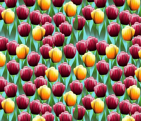 Field of Tulips fabric by glimmericks on Spoonflower - custom fabric