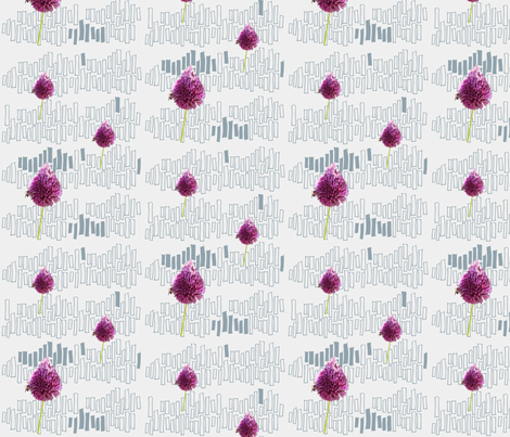 purple flowers fabric by surfacerender on Spoonflower - custom fabric