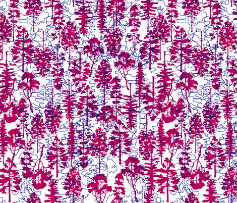 TREES UP & DOWN fabric by natasha_k_ on Spoonflower - custom fabric