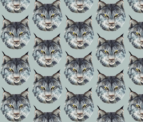 the wild cat wild animal fabric fabric by dogdaze_ on Spoonflower - custom fabric