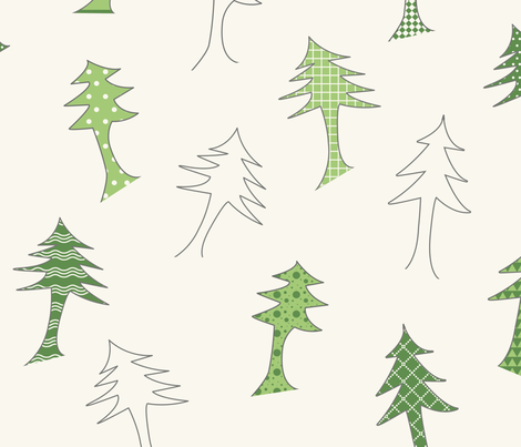 A patterned forest fabric by neurotickle on Spoonflower - custom fabric
