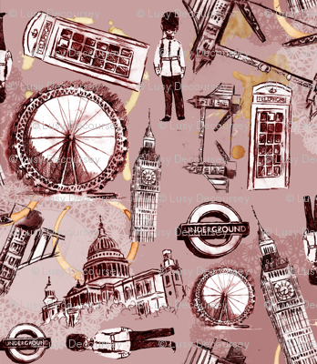 London Doilies, Tea stains & Landmarks