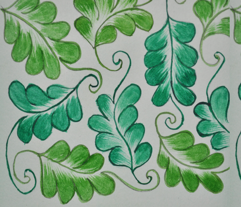 fresh green fabric by suma on Spoonflower - custom fabric