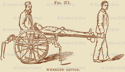 Civil War Battlefield First Aid medical illustration