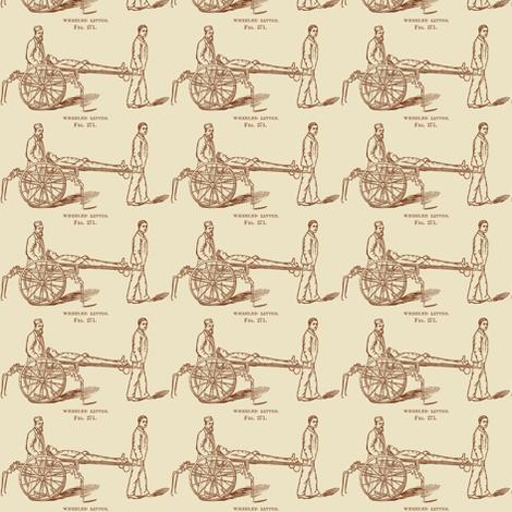 Civil War Battlefield First Aid medical illustration fabric by edsel2084 on Spoonflower - custom fabric