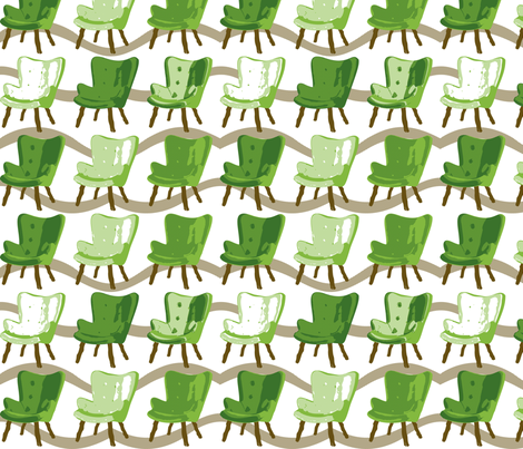 Topiary Featherston Chair fabric by meredithjean on Spoonflower - custom fabric