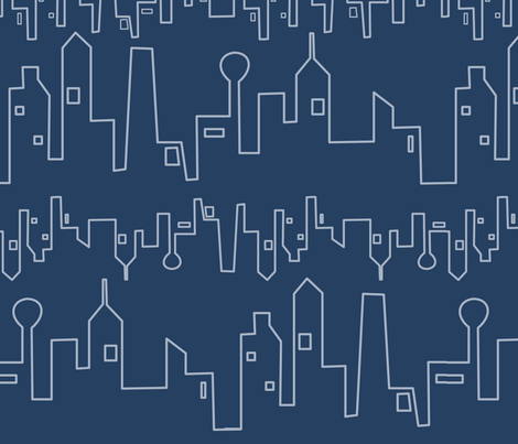 City Rhythm Blues fabric by lowa84 on Spoonflower - custom fabric