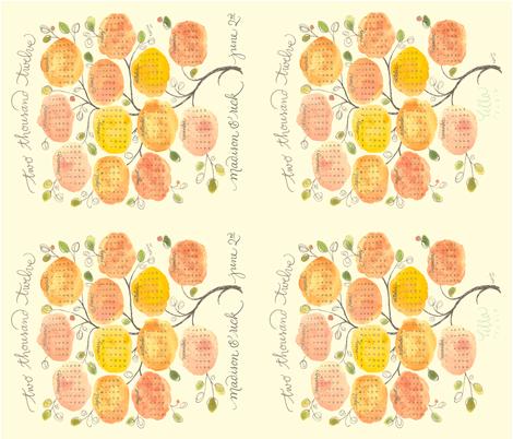 custom sweet-year-tree2012madisonandrick fabric by lisaekström on Spoonflower - custom fabric