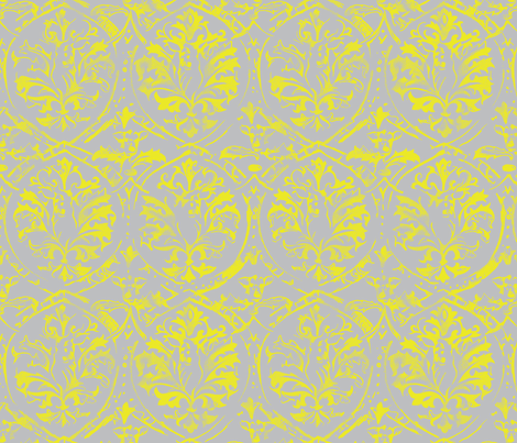Deer Damask_CITRON fabric by pattern_state on Spoonflower - custom fabric