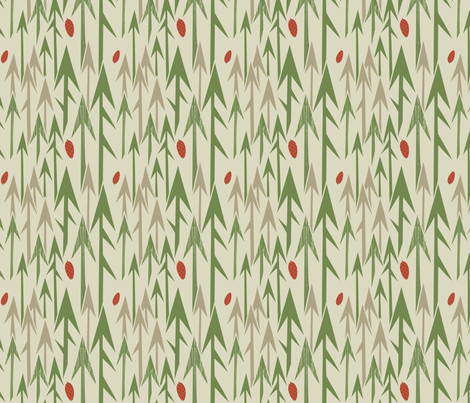 The Mighty Pines of Maine fabric by chris_jorge on Spoonflower - custom fabric