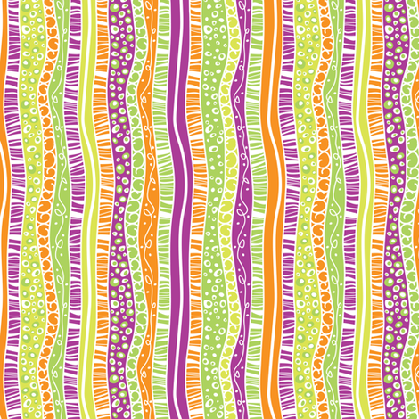 A Pink Bouquet Stripe fabric by robyriker on Spoonflower - custom fabric