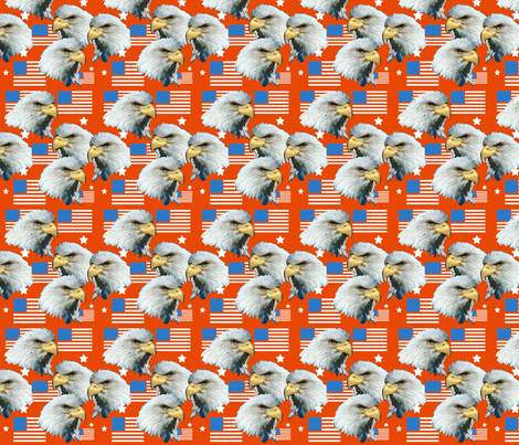 Bald Eagles fabric by dogdaze_ on Spoonflower - custom fabric