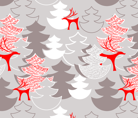 Holiday Forest fabric by newmomdesigns on Spoonflower - custom fabric