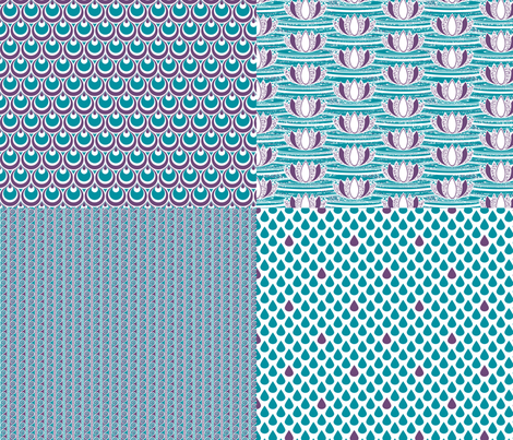 Watery Pools FQ Collection fabric by siya on Spoonflower - custom fabric