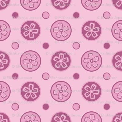Super Pink Flower Dots!