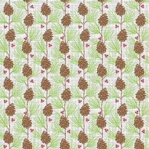 Whispy Pines - Barkcloth