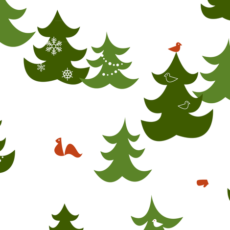 winter woods fabric by theboerwar on Spoonflower - custom fabric