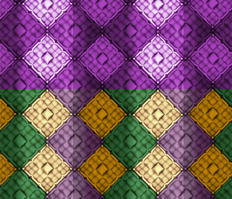 Brick_Mardi_Gras_Pleat_Brick fabric by pd_frasure on Spoonflower - custom fabric