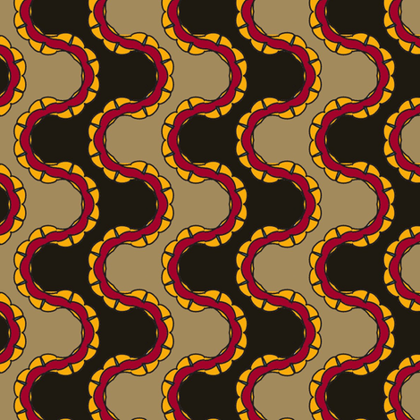 Black Nile fabric by david_kent_collections on Spoonflower - custom fabric