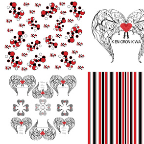 Winged Heart Clusters, Stripes, Dots Coordinates