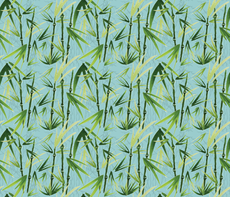 Bamboo is Winter's Friend fabric by sheila's_corner on Spoonflower - custom fabric